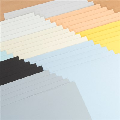12 x 24 Coloured Paper Packs Multibuy - Stormy Skies and Sunshine Days