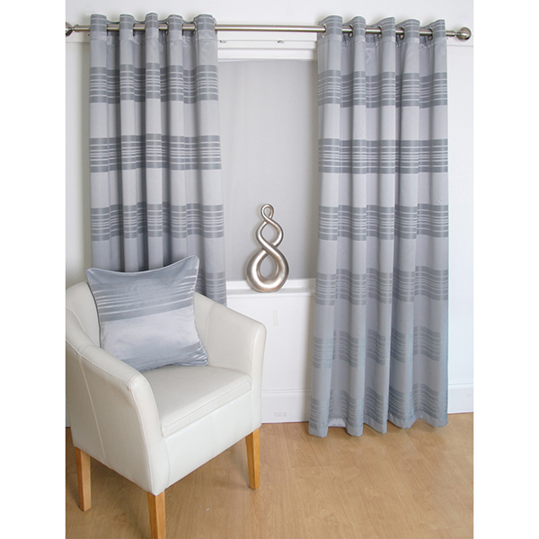 Paris (90 inches x) Lined Ring Top Curtains (403961) | Ideal World