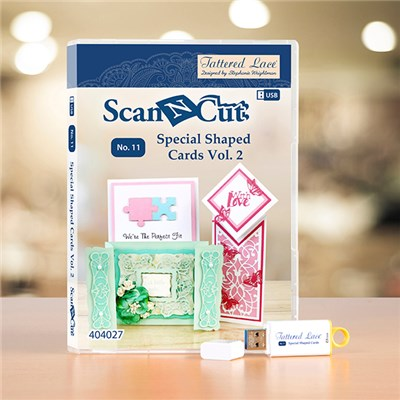 Brother ScanNCut Tattered Lace Special Card Shapes USB Volume 2