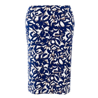Lavitta Leaf print pencil skirt 24.5in