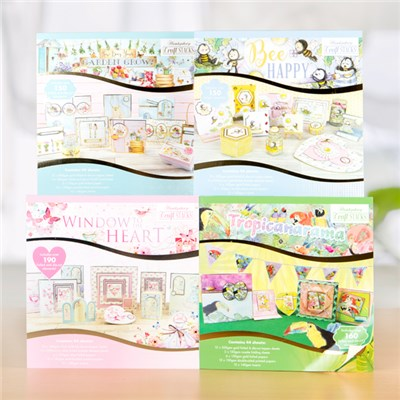 Hunkydory Craft Stacks Collection - Tropicanarama, Bee Happy, How Does Your Garden Grow and Window to the Heart