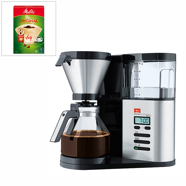 Melitta Aroma Elegance Deluxe Filter Coffee Machine with Filter Bags No Colour
