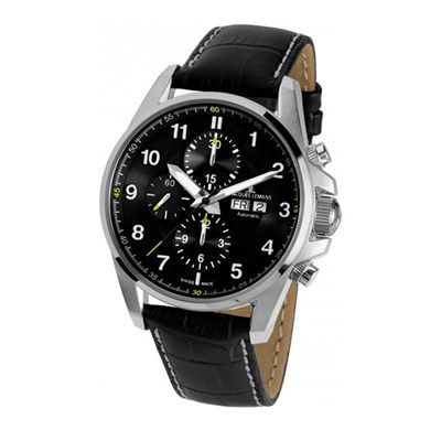 Jacques Lemans Gent's Swiss Made Liverpool Watch (Leather Strap)