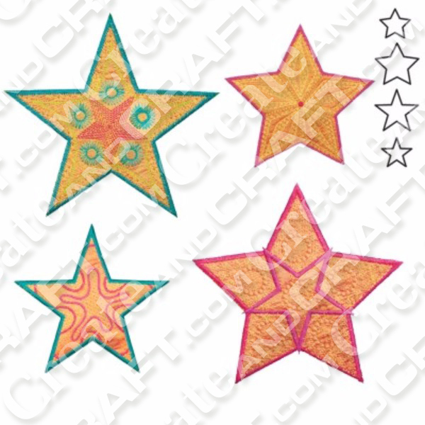 AccuQuilt GO Star Medley-5 Point by Sarah Vedeler No Colour