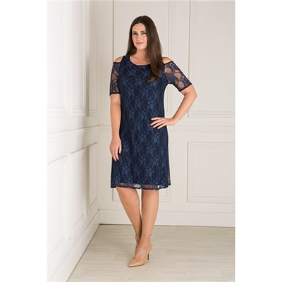 Nicole Lace Cold Shoulder Dress