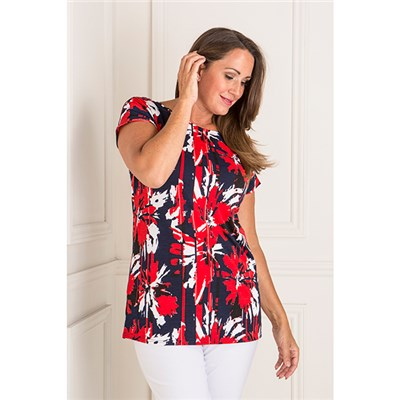 Anamor Print Tunic Top