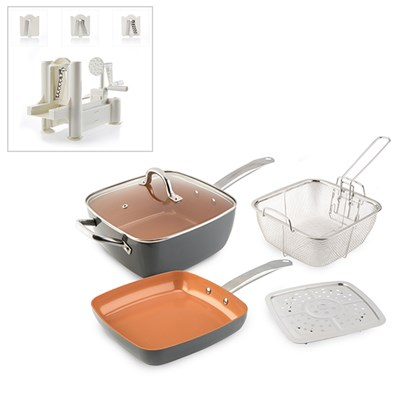 Cookshop Copperglaze 6 in 1 Pan with Cookshop Spiralizer