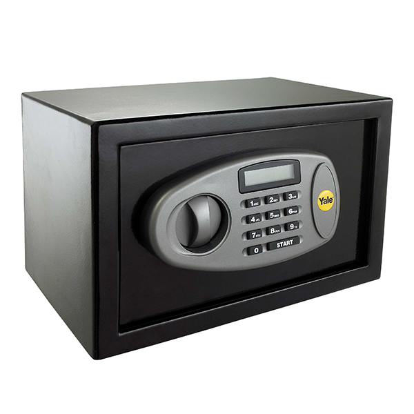 Yale Black 8.6L Electronic Compact Safe with LCD Display - Y-SS0000NFP No Colour