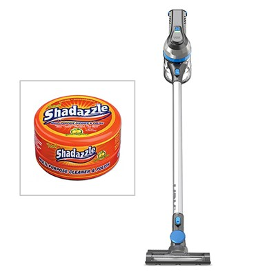 Vax Cordless SlimVac with a FREE Tub of Shadazzle Natural Cleaner and Polish
