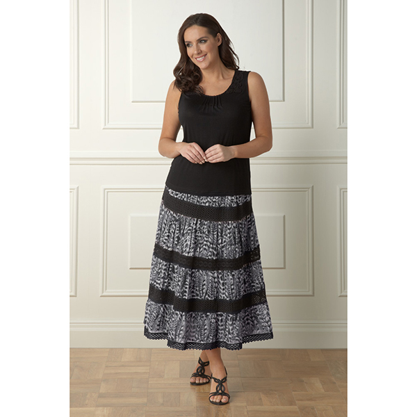 Lavitta Cotton animal print skirt 35in 404758