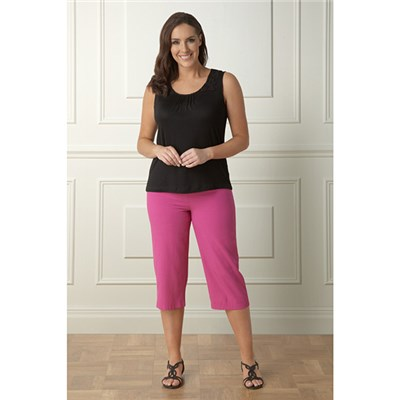 Lavitta Crinkle crop trouser 24in