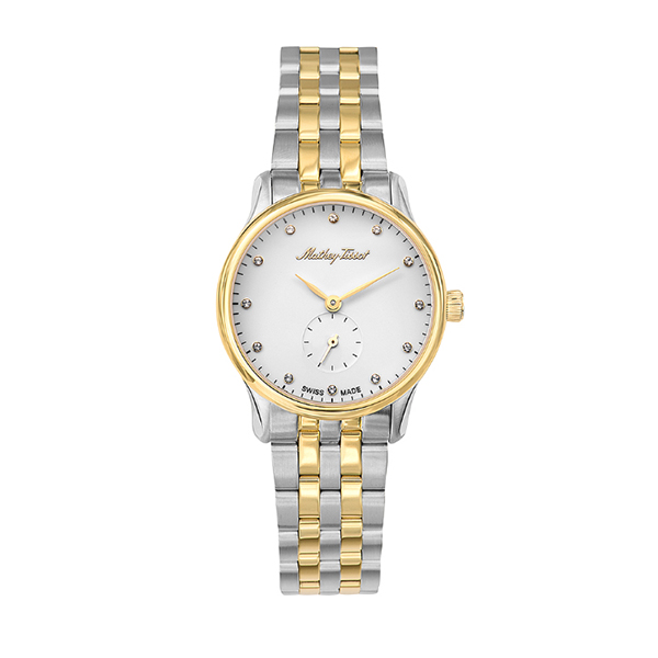 Mathey-Tissot Ladies' Edmond with Two Tone Stainless Steel Bracelet Silver/Gold