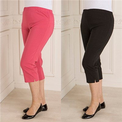 Nouvelle Two Pack Stretch Bengaline Cropped Trouser