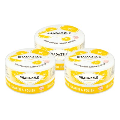 Three Tubs of Shadazzle Natural Cleaner and Polish