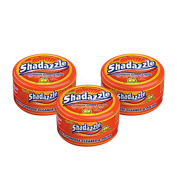 Three Tubs of Shadazzle Natural Cleaner No Colour