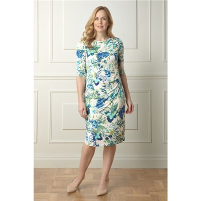 Lavitta Botanical floral wrap dress 41in