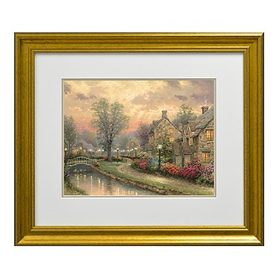 Thomas Kinkade Lamplight Lane Open Edition Print