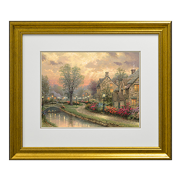 Thomas Kinkade Lamplight Lane Open Edition Print Traditional