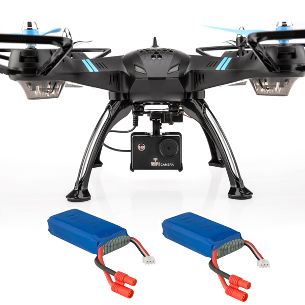 Viper Pro Drone with Electronically Adjustable HD Camera and 2 Batteries No Colour
