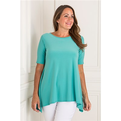 Reflections Half Sleeve Dip Hem Top