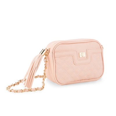 Quilted Shoulder Bag with Chain Detail
