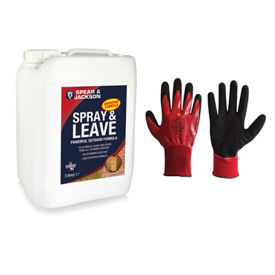 Spear & Jackson 5L Spray and Leave with Grip it Gloves