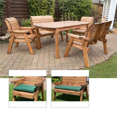 Charles Taylor Six Seater Rectangular Table Set XL with Free Cushions
