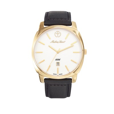 Mathey-Tissot Gent's Smart Watch with Genuine Leather Strap