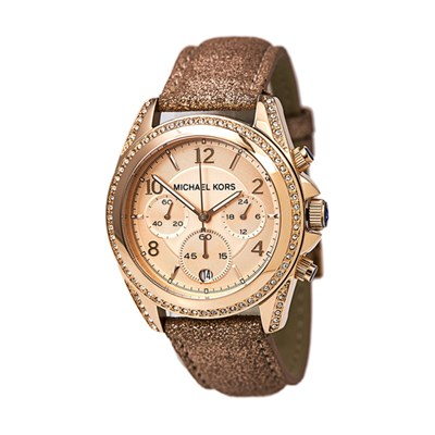Michael Kors Ladies' Parker Chronograph Watch with Leather Strap