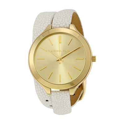 Michael Kors Ladies' Slim Runway Watch with Wraparound Leather Strap