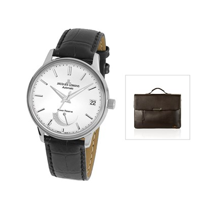 Jacques Lemans Swiss Made ETA Valgrange LE Automatic Retro with FREE Bag