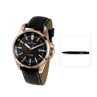 Jacques Lemans Gents Miyota 8215 Automatic Liverpool Series with FREE Pen