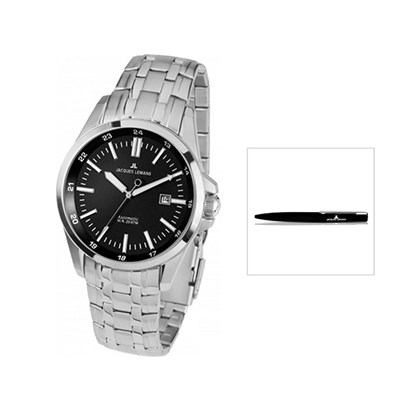 Jacques Lemans Miyota 8215 Automatic Liverpool Series Watch with FREE Pen