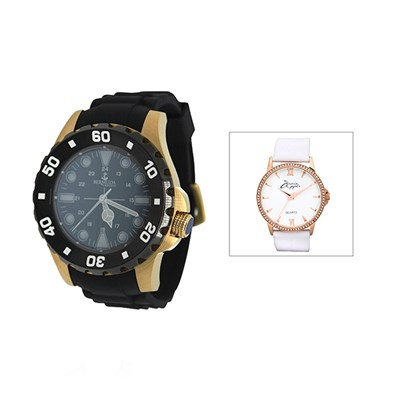Bermuda Gent's Shelly Bay Smart light Watch with Silicone Strap with FREE Ladies' Watch
