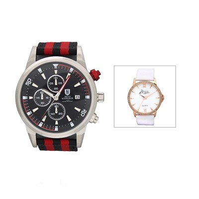 Bermuda Gent's Reuben Chronograph Watch with Nylon Strap with FREE Ladies' Watch