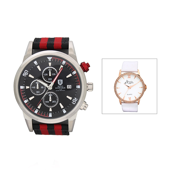 Bermuda Gents Reuben Chronograph Watch with Nylon Strap with FREE Ladies Watch 406162