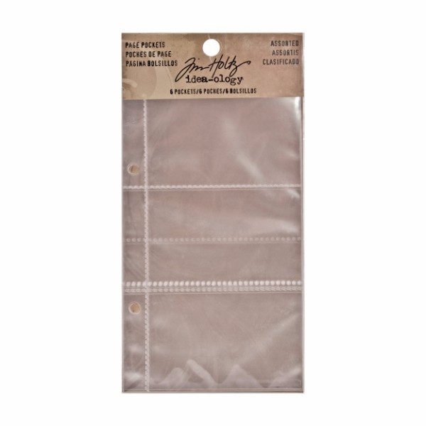Tim Holtz Page Pockets, Assorted No Colour