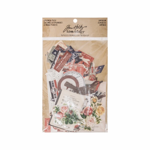 Tim Holtz Ephemera Pack, Emporium No Colour