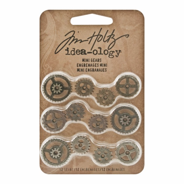 Tim Holtz Mini Gears - Set of 12 No Colour