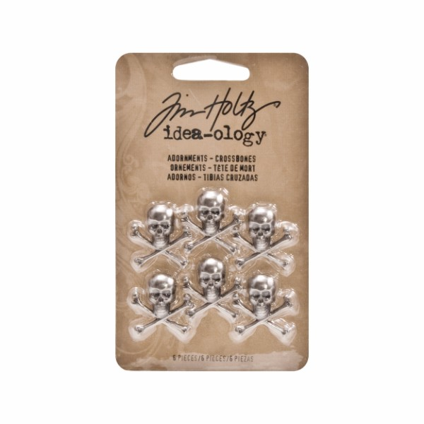 Tim Holtz Adornments - Crossbones Pack of 6 No Colour