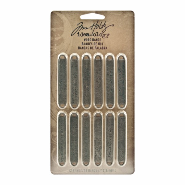Tim Holtz Word Bands  - Pack of 12 No Colour