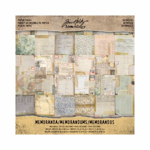 Tim Holtz Paper Stash - Memoranda No Colour