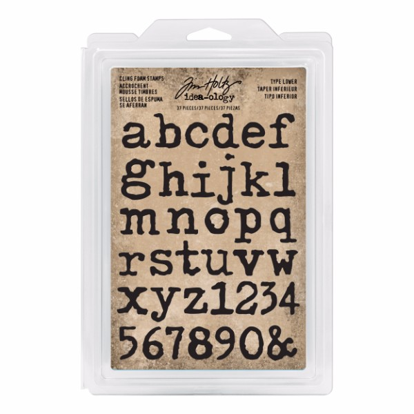Tim Holtz Cling Foam Stamps, Type Lower No Colour