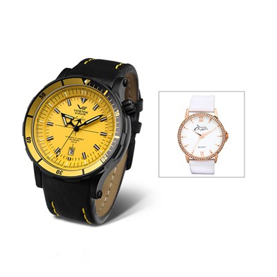 Vostok Europe Gent's Anchar Automatic Watch with Interchangeable Strap and Dry Box with FREE Ladies' Watch