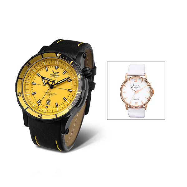 Vostok Europe Gents Anchar Automatic Watch with Interchangeable Strap and Dry Box with FREE Ladies Watch 406248