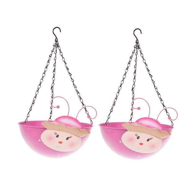 Princess Wobblehead Hanging Baskets 32cm (Pair) No Colour