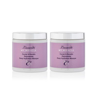 Lusardi My Miracle Caviar and Keratin Rejuvenate Deep Hydration Masque Twin-pack 200ml