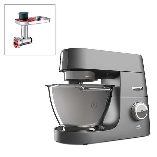 Kenwood Chef Titanium Kitchen Machine with Meat Grinder Attachment No Colour