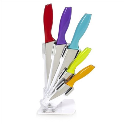 Cook Incolour 5Pce Knife Block W/Translucent