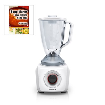 Bosch Anthracite Blender with Soup Maker Recipe Book By Paul Brodel